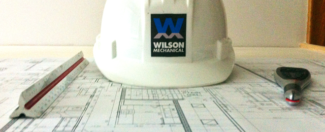 hardhat and blue print